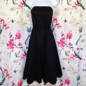 White House Black Market Strapless Scallop Dress